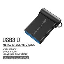 super mini metal usb flash drive 3.0 pendrive 128GB 64GB 16GB 8GB 4GB usb stick portable 32GB flash memory Pen drive Free logo цена и фото