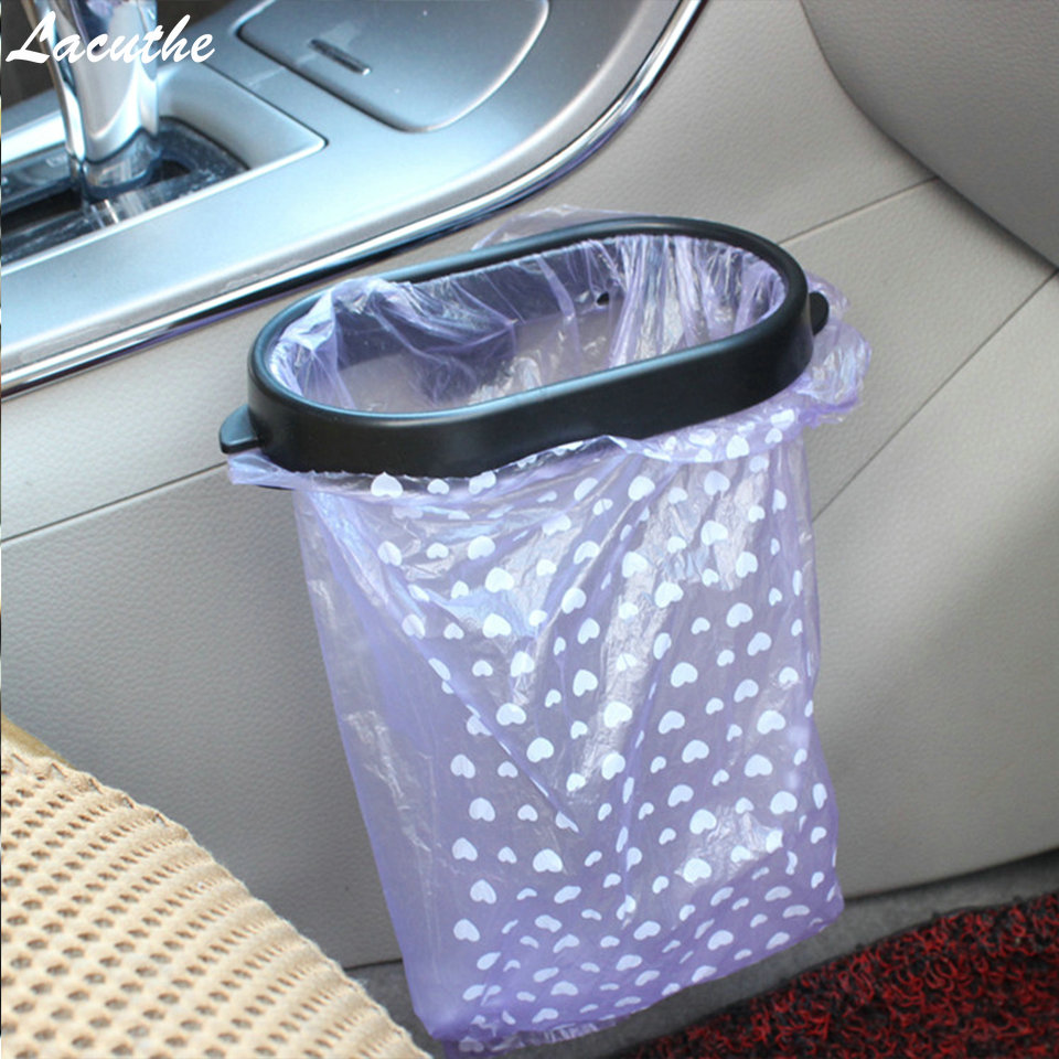 Lacuthe Car-styling Car Sticker 1X Car Rubbish Bin Trash Bag Frame For <font><b>Kia</b></font> rio ceed sportage Skoda octavia rapid Car Accessories image
