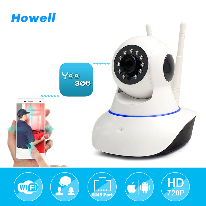 Howell HD 720P Wireless WiFi Yoosee IP Home Security Camera Home Surveillance Camera IPcam IR Night Vision Camara Dual Antennas