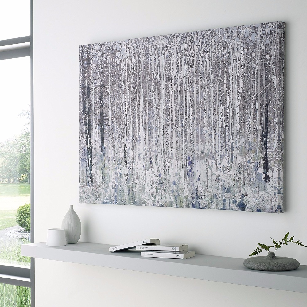 Hand Painted White, gray, black Abstract Unique Modern ...