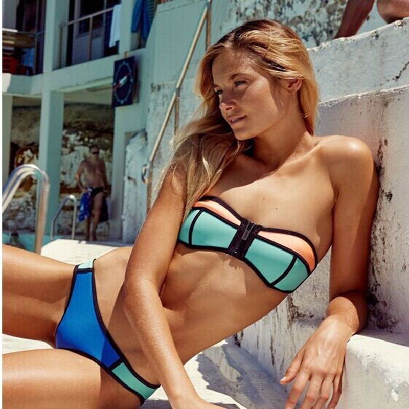 High Quality Women Swimsuit Two Piece Swimming Suit Brazil -5031
