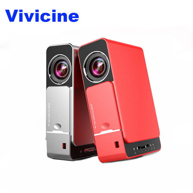 VIVICINE 1280x720p HD LED Projector,Option Android 7.0 HD Portable HDMI USB 1080p Home Theater Proyector Bluetooth WIFI  Beamer