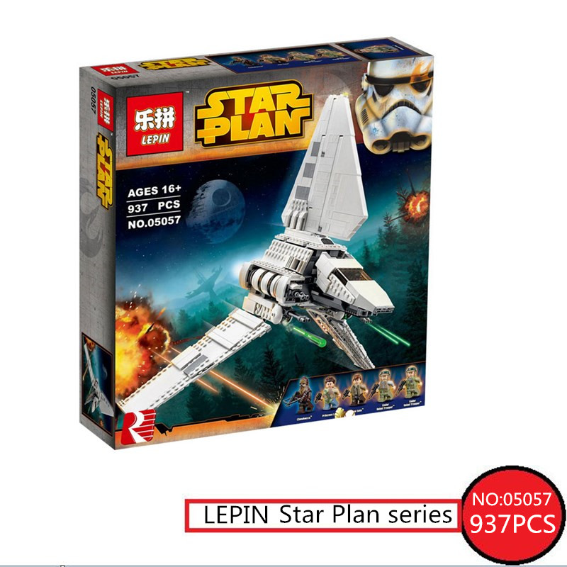 Star Series war LEPIN 05057 937Pcs Imperial Shuttle Tydirium Building Blocks Bricks Mini Assembled Children Toys Compatible Gift lepin 05057 937pcs star moc series war imperial shuttle tydirium building blocks bricks assembled children toys compatible 75094