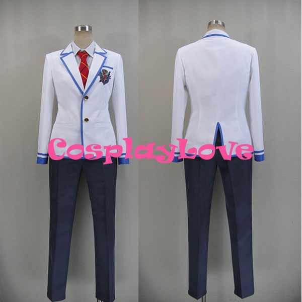 Newest Custom Made Japanese Anime Daitoshokan no Hitsujikai Kakei Kyotarou Takamine Ikkei School Uniform Cosplay Costume