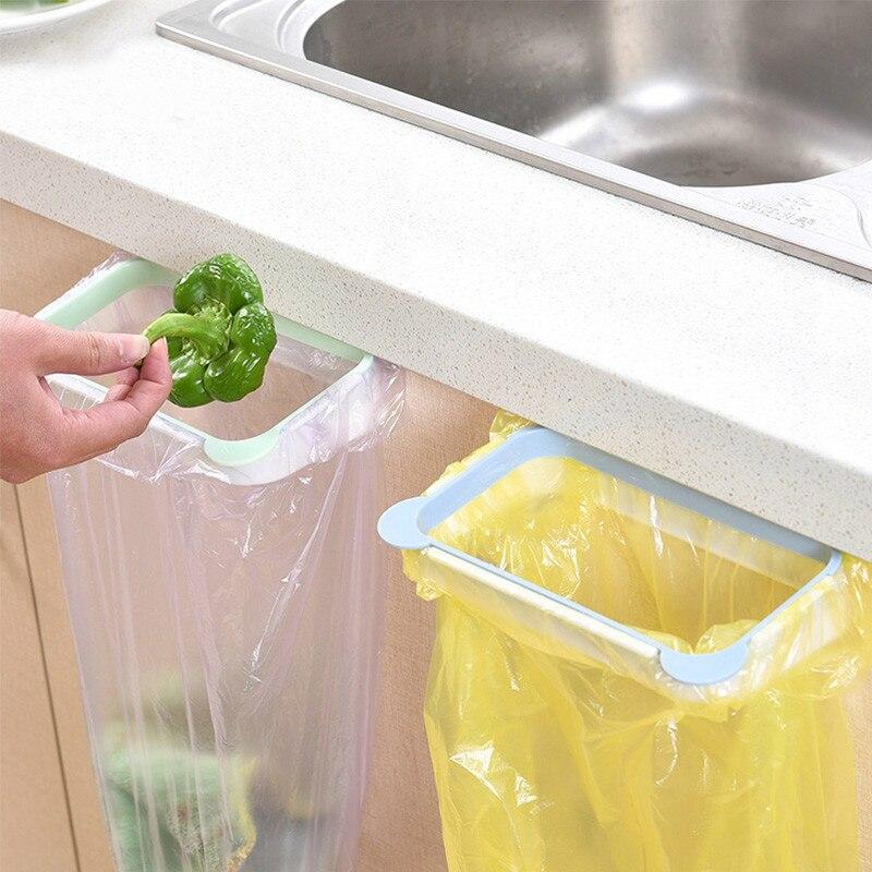 Dropship Garbage Bag Racks Hanging Kitchen Cupboard Storage Holders Tailgate Stand Rubbish Bag Towel Storage Rack