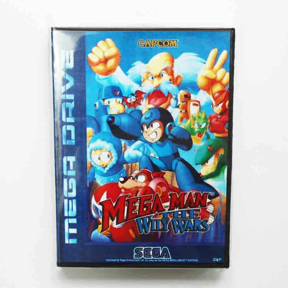 Mega Man The Wily Wars Game Cartridge 16 bit MD Game Card With Retail Box For Sega Mega Drive