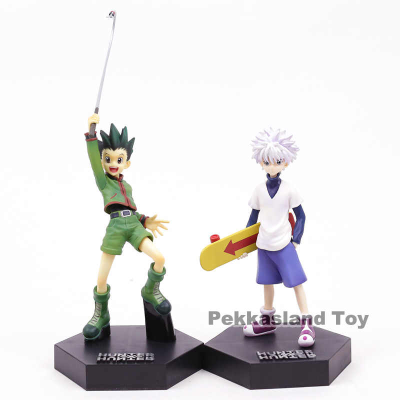 Hunter X Hunter Gon Freecss animação/Killua Zaoldyeck PVC Figure Toy Collectible Modelo 3 Tipos