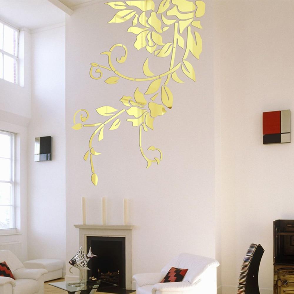 140*81cm DIY Acrylic Mirror Wall Stickers Modern Home ...
