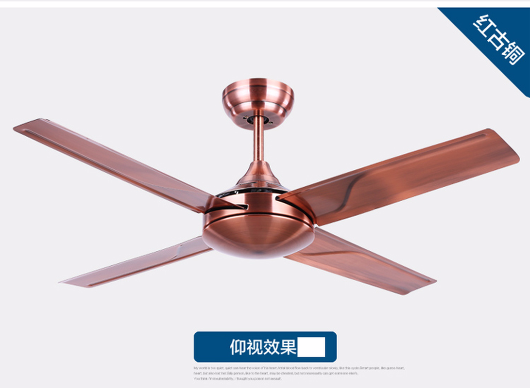 36/48 Inch 4 Blade Metal Indoor Ceiling Fan with Remote Control ...