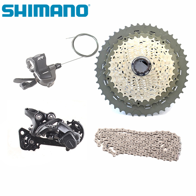SHIMANO DEORE XT M8000 11 vitesses 4 pièces/1 ensemble groupe de transmission vtt vélo Cassette chaîne SGS dérailleur arrière droit manette de vitesse