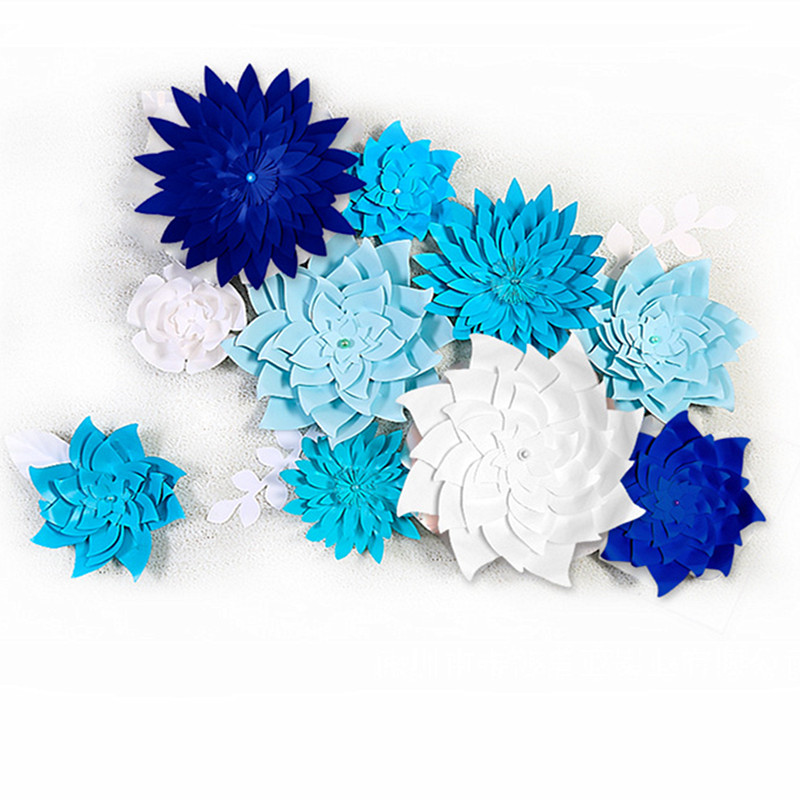 15cm/40cm DIY Paper Flowers Backdrop Decorative Artificial Flowers Wedding Decoration Baby Shower Home Decoration Party Supplies
