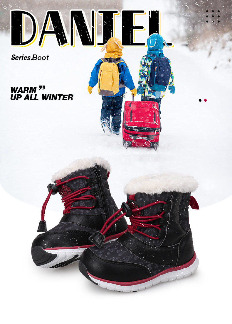 388db1e40fa7 UOVO 2018 Black Snow Boots Kids Winter Boots Boys Waterproof Shoes ...