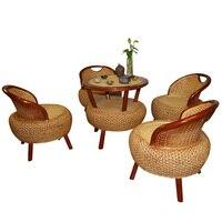 100% ручной работы ротанга стул набор ротанговой мебели ротанга диван мебель для гостиной небольшой открытый/крытый ротанга диваны обеденны