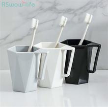 2 шт пара зубных щеток чашка для мытья дома креативная с ручкой