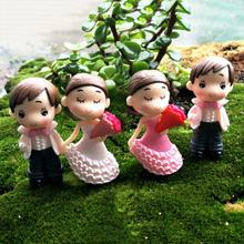 Cuta Couple Chair Figurines Miniatures Fairy Garden Gnome Moss Terrariums Resin Crafts Home Decoration Accessories(China)