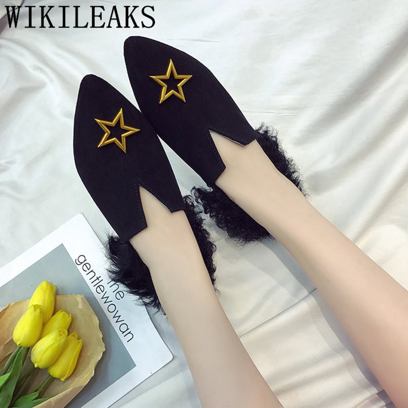 designer star ladies shoes women loafers breathable sapato feminino luxury brand flat shoes women fur casual shoes zapatos mujer new designer women fur flats luxury brand slip on loafers zapatillas mujer casual ladies shoes pointed toe sapato feminino black