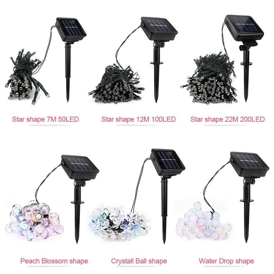 30/50/100/200 LED Solar Fairy Lights Outdoor Led Chain Solar String Light Garden Decoration Warm White/White/RGB Decor Lighting