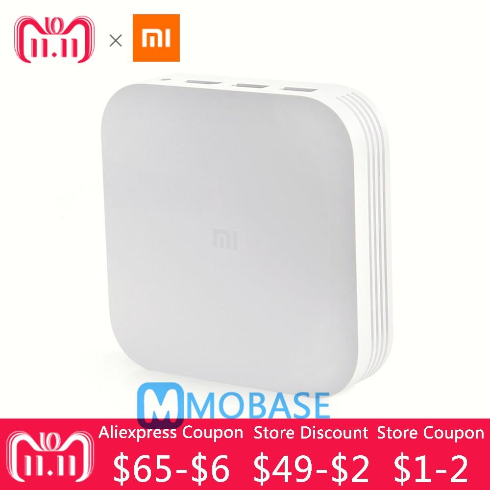 100% D'origine Xiao mi mi TV Boîte 3 Pro Version Améliorée Android 5.1 Wifi Bluetooth 4.1 Smart 4 k HD 2g/8g Dual Core 4 k OTT Boîte