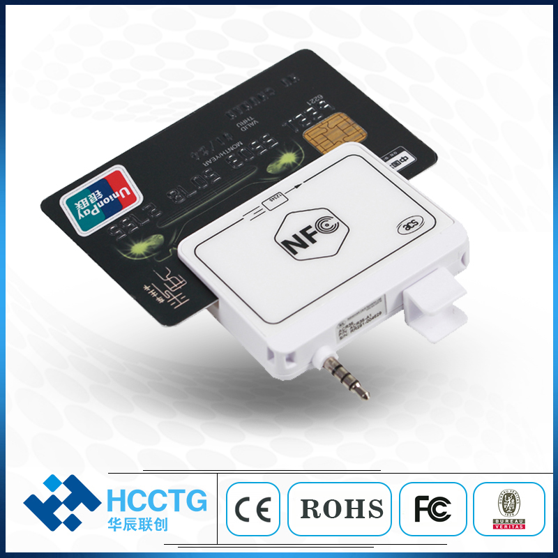 NFC Audio Jack Magnetic Card Reader /Mobile Phone Credit Card Reader with free SDK image