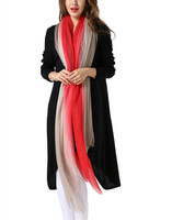 Топ высококачественное кольцо кашемир женский модный градиентный цветной Роскошный большой размер шарфы шаль Пашмина 100x240 см