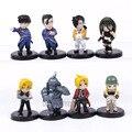 Envío Gratis Anime Fullmetal Alchemist PVC Figuras de Acción Juguetes Muñecas Nuevo en Caja Al Por Menor 8 unids/set OTFG050