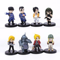 Free Shipping Anime Fullmetal Alchemist PVC Action Figures Toys Dolls New in Retail Box 8pcs/set OTFG050