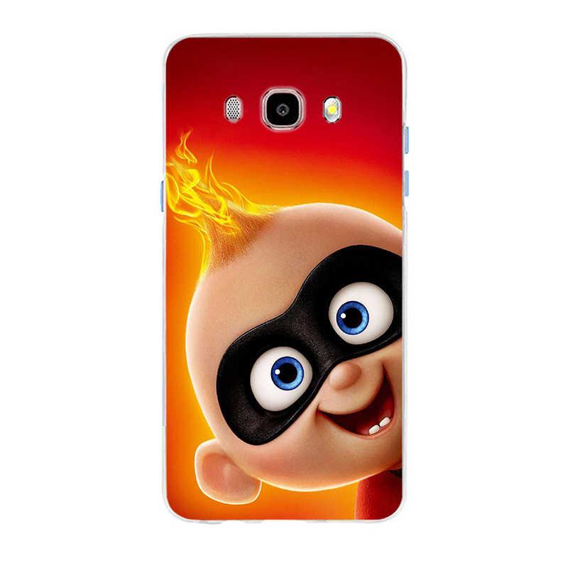 Karikatür Incredibles 2 İnce kapak yumuşak silikon TPU telefon samsung kılıfı Galaxy S6 S6edge A7 S7edge S8 S9 artı A5 j5 2016