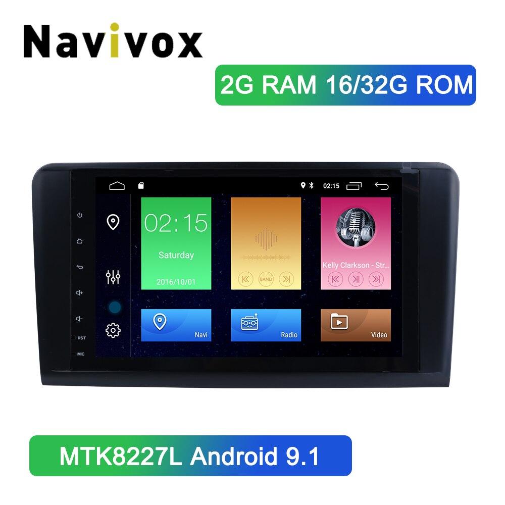 Navivox Android 9.1  Car DVD Stereo Player for Mercedes/Benz GL ML CLASS W164 ML350 ML500 X164 GL320 with Wifi BT Radio GPSNavivox Android 9.1  Car DVD Stereo Player for Mercedes/Benz GL ML CLASS W164 ML350 ML500 X164 GL320 with Wifi BT Radio GPS
