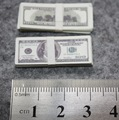 3cm USD 100 Banknote 1/6 Model Toy Doll Jewelry Accessories Props Double sided printed.price for one
