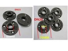 """10 piezas de Rosca BSP accesorios de tubería de hierro maleable montaje en pared piso antiguo 1/2 """",3/4"""" brida herraje de pieza herramienta bridas de fundición de hierro"""