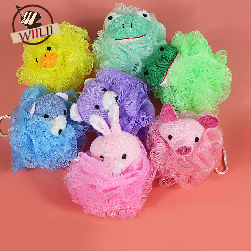 Home Multicolored Bath Ball Bath Flower Soft