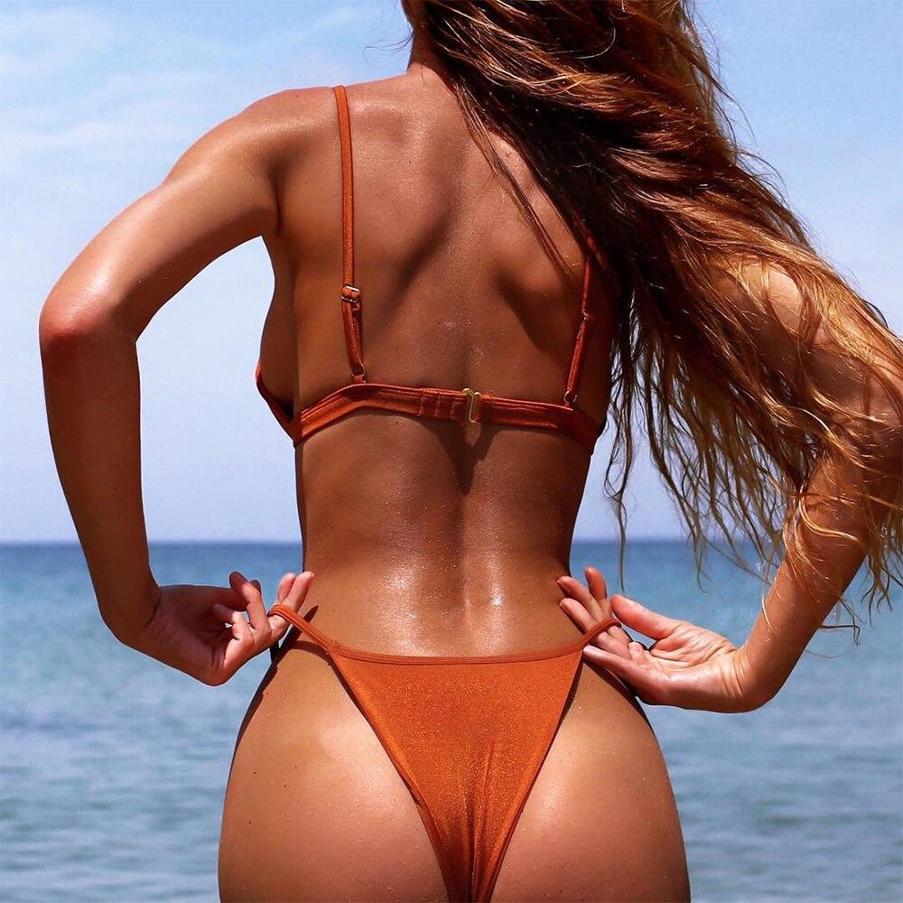 Adriana Arango Swimwear for women Solid Push Up Swimsuit Sexy Brazillian Thong Bikini Summer Beachwear Bathing Suit Biquini in Bikinis Set from Sports Entertainment