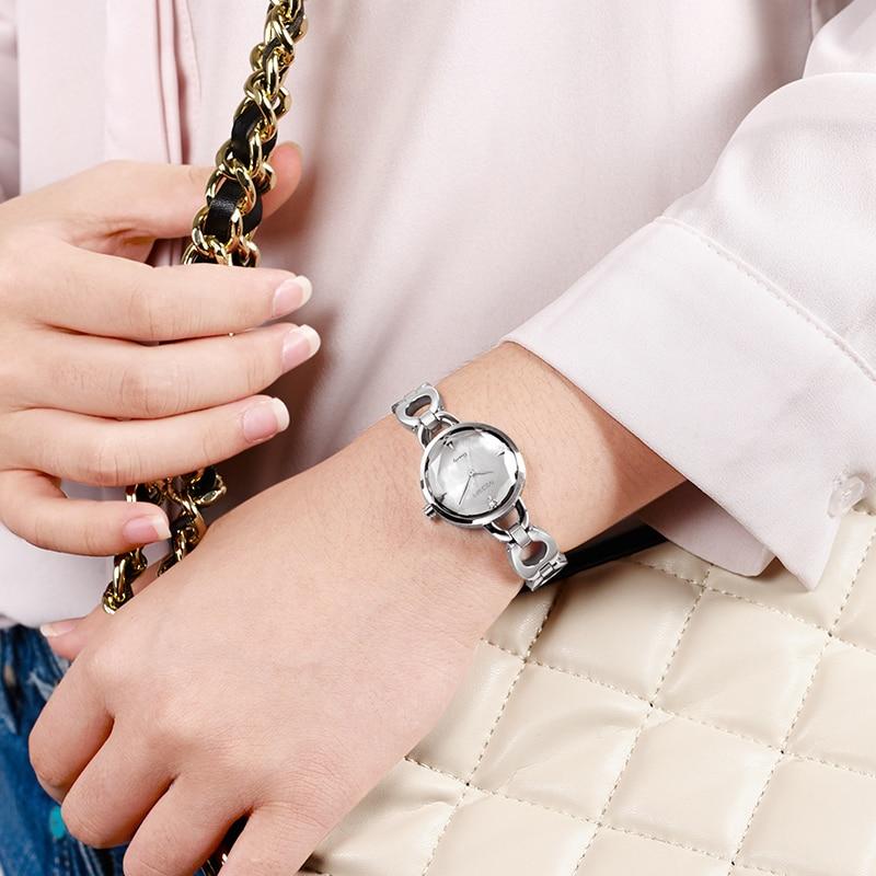 MEGIR Women Luxury Brand Metal Bracelet Jewelry Quartz Wrist
