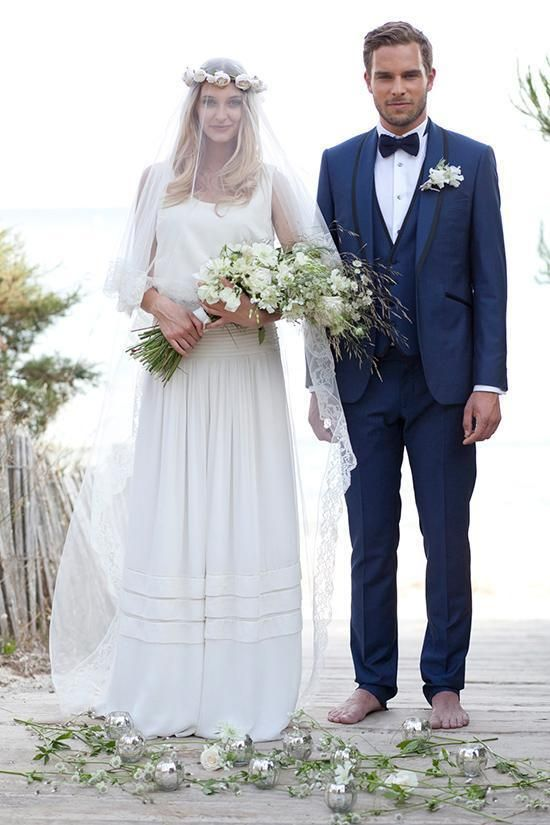 2018 Tailored Made Navy Blue Suit Men Wedding Suits For Men Slim ...