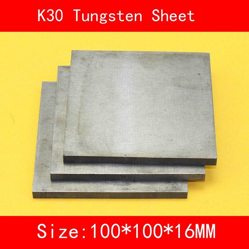 16*100*100mm Tungsten Sheet Grade K30 YG8 44A K1 VC1 H10F HX G3 THR W Tungsten Plate ISO Certificate 16 100 100mm tungsten sheet grade k30 yg8 44a k1 vc1 h10f hx g3 thr w tungsten plate iso certificate