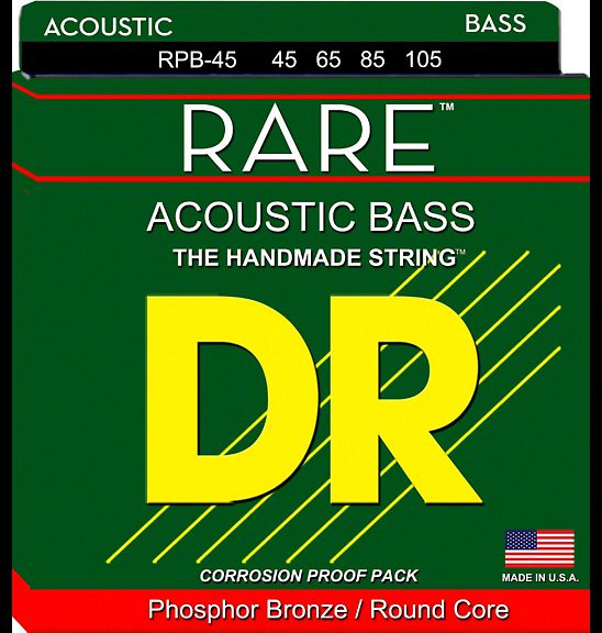 DR Strings Rare Phosphor Bronze Acoustic Bass Strings 45-105 dr strings nmcb 40 nmcb 45 nmcb5 45 dr k3 neon bass guitar strings light multi color