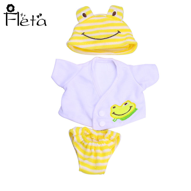 Fleta Doll Handmade Doll Accessories Frog Pattern Pajamas Set + Hat Suitable Of 14.5 Inch Doll Our Generation Of Toy Doll Access