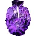 Alisister New Harajuku 3D Hoodie 3D Purple Weed Leaf Print Sweatshirt Fashion Hooded Sweatsuits Tops Plus Size S-XXL Dropship