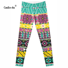Leggings 2016 New Fashion Cool Style geometry Digital Print Women Sexy Pants Work Out Trousers Ropa Mujer Plus size