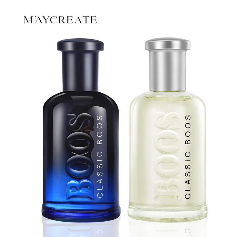 50ML Original MayCreate Men Perfumed Classic Cologne Lasting Fresh Fragrance Makeup Male Perfumed Spray Glass Bottle 2PCS/Lot