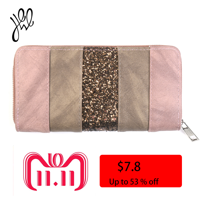 2018 New Women Wallets Leather Luxury Brand Long Wallets Party Clutch Wallet Bling For Money Bag Fashion Lady Card Holders Purse new hot sale envelope clutch handy bag fashion brand long women lady purse cell mobile iphone card case evening party wallet