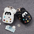 Cute Mickey women Bag female Car Key luxury ladies Wallets Clover Women Housekeeper Holders Carteira Key chain Zipper Key Pouch