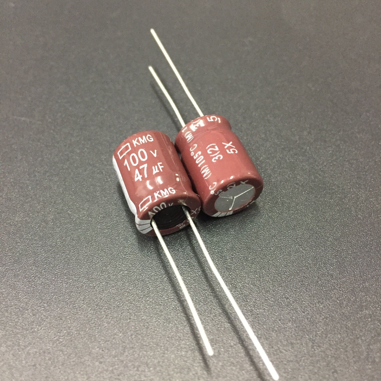 10pcs 47uF 100V NIPPON Chemi-Con NCC KMG Series 10x13mm 100V47uF Aluminum Electrolytic Capacitor