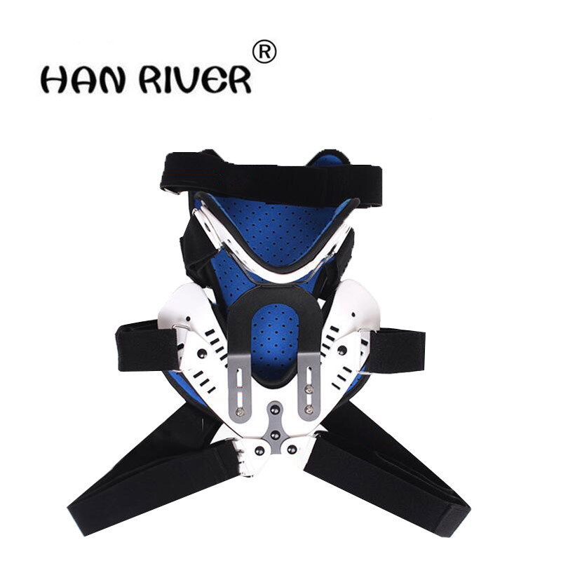 HANRIVER Adjustable cervical neck collar with a fixed neck postoperative chest protectors fixed bracket vertebra rehabilitation