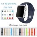 Fluoroelastómero urvoi banda para apple watch sport correa de pulsera pin y tuck reemplazo colorido colores oficiales de cierre de silicona