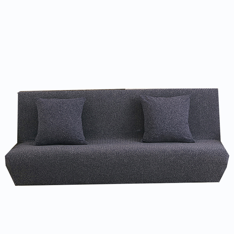 Elastic Armless couch sofa cover for living room universal blue knitted fabric sofa bed cover stretch