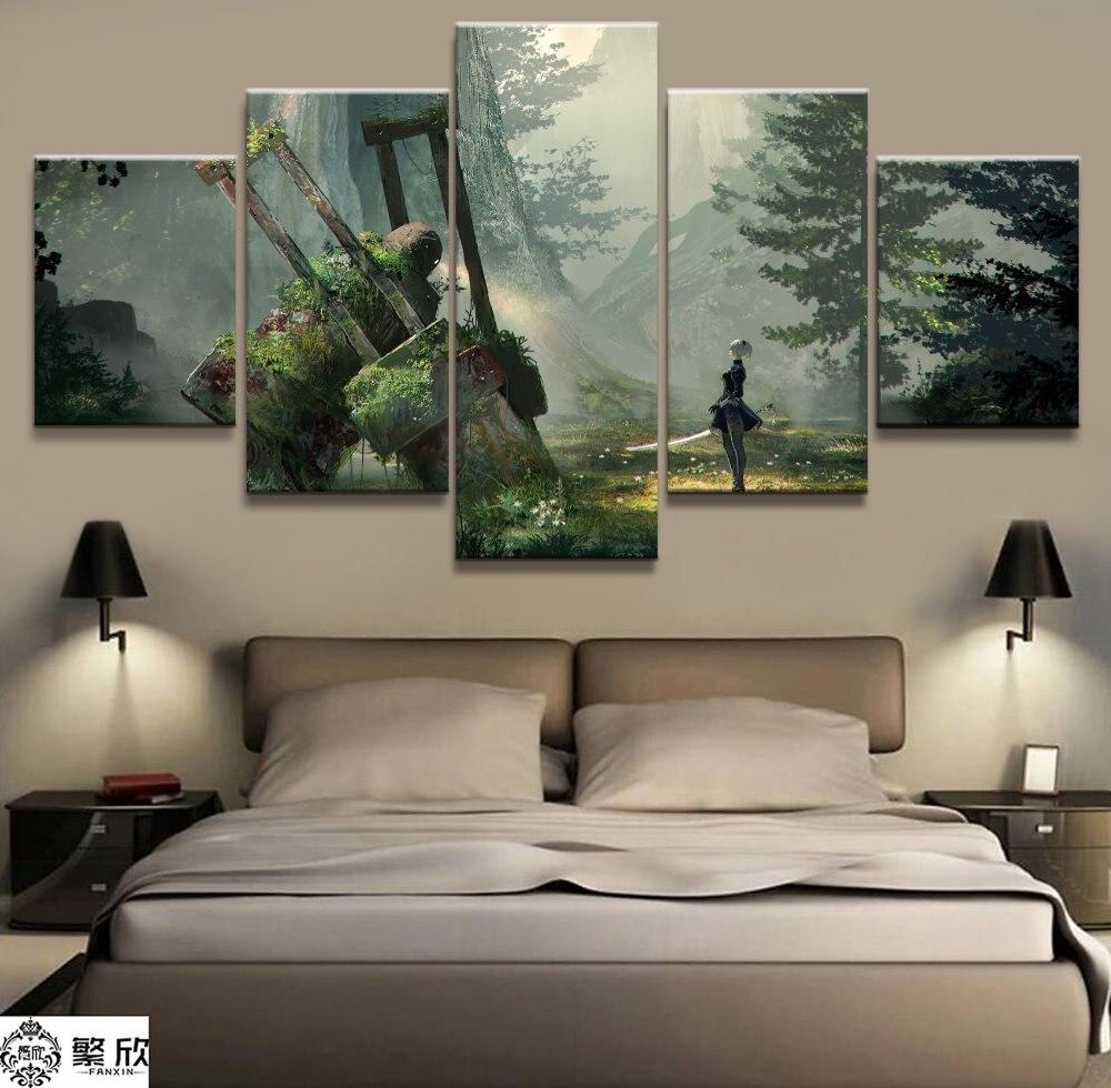 NieR Automata HD Print Anime Wall Poster Scroll Room Decor