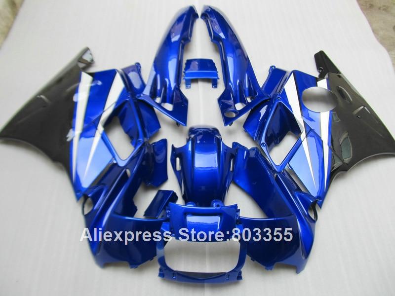 Bleu pour HONDA CBR 600 F2 1994 1993 1992 1991 Abs carénages cbr600 (+ blanc personnaliser) kit de carénage 94 93 92 91 xl75
