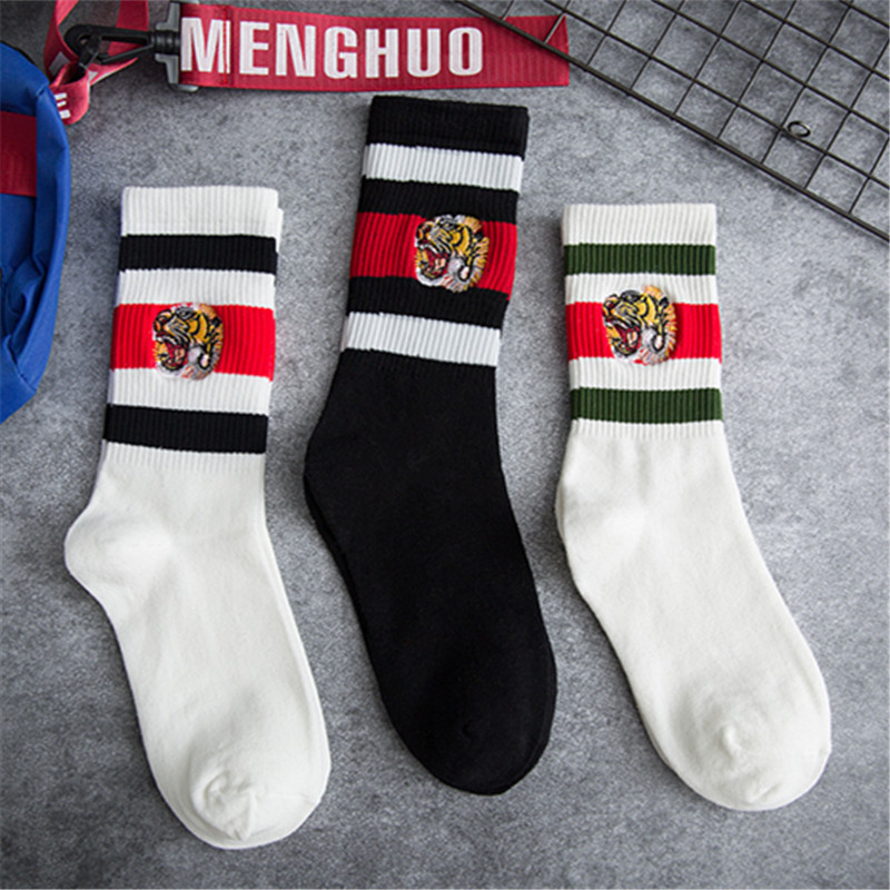 Harajuku Japanese Winter 2019 New Ankle Socks Women Fashion Tiger Calcetines Mujer Sokken Skarpetki Damskie Chaussette Femme