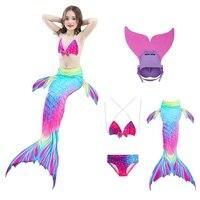 New Summer Beach Children bikini Girls Mermaid Tail Monofin flippers Swimmable Kids Swimwear Photo Booth Props Hot Sales